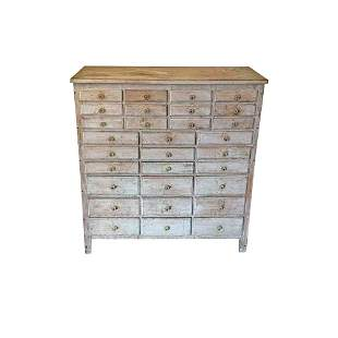 Thirty Drawer Painted Apothecary Chest