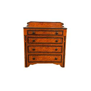 Painted Cottage Pine Four Drawer Chest