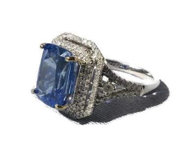 5.68 Madagascar Cornflower Blue Sapphire, Diamond and