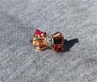 Rose Gold Antique Bow Ring