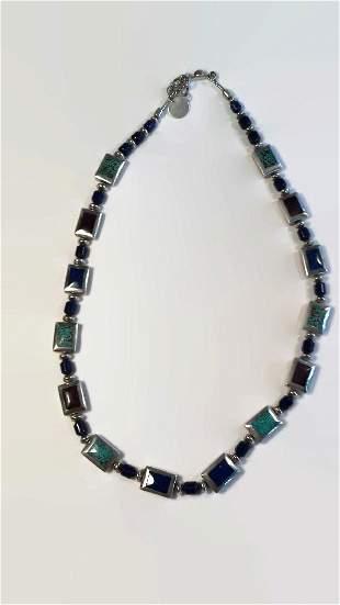 Semi Precious Jemstone Sterling Silver necklace