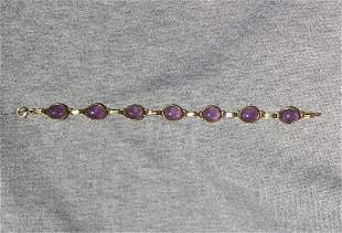 Amethyst Scarab Bracelet
