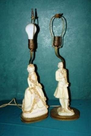 18: porcelain lamps
