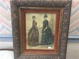 Vintage Framed Print 'Ladies'