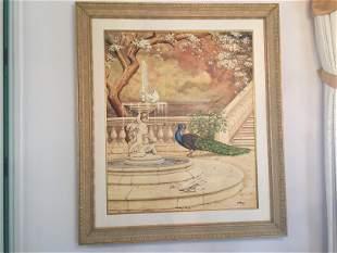 Oil/Canvas 'Peacock'