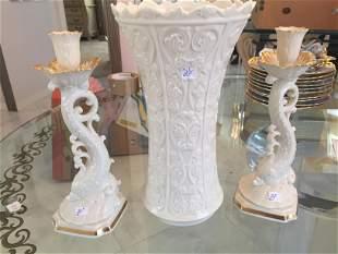 Lenox Vase & Candle Sticks