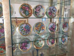 14-Hand Painted Plates