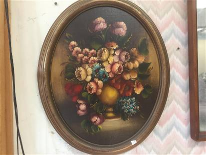 Oil/Panel 'Floral'