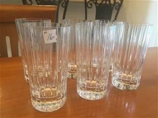 (6)Baccarat Highball Glasses