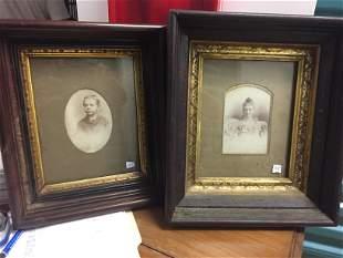 2-Framed Vintage Photos