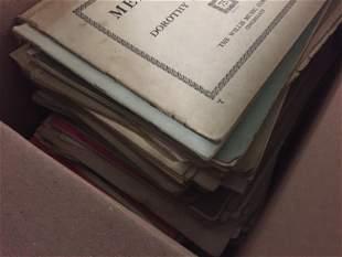 Box Vintage Sheet Music