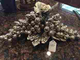 Golden Silver Berry Sculpture