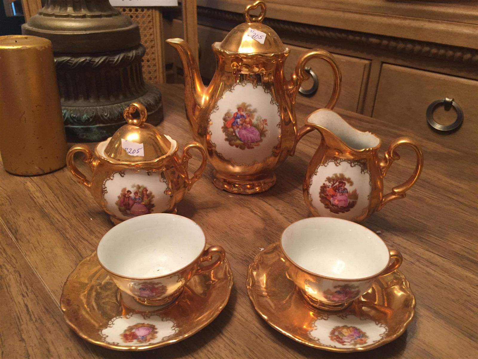 Italian Gold Coffee Set