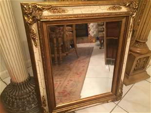 Gilt Empire Style Wall Mirror