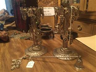 Silver Berry Candle Sticks
