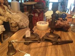 Pair Vintage Candle Sticks & Snuffer