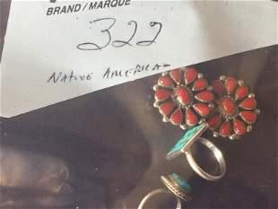 Native Amer. Turq/Sterling Rings/Earr.
