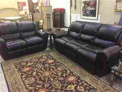 Soft Brown Leather Sectional Recliners