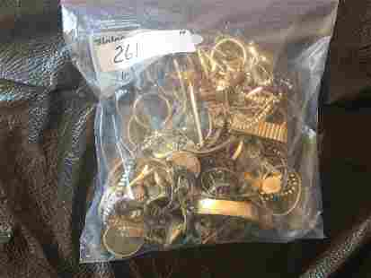 Bag Full of 10k Gold Filled Costume Jewelry