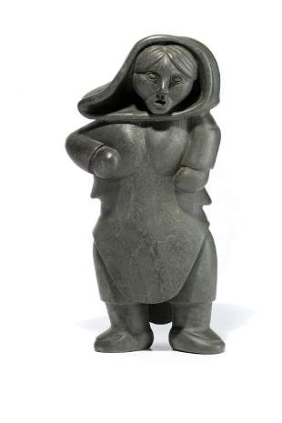 HENRY NAPARTUK, Inuit, Standing Woman in an Amautiq
