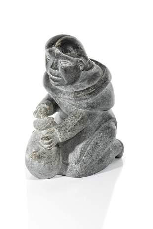SARAH MEEKO NASTAPOKA, Inuit, Kneeling Woman
