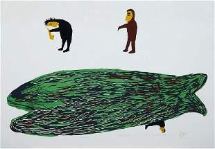 LUKE ANGUHADLUQ, Inuit, Qiviuq Crossing the Ocean