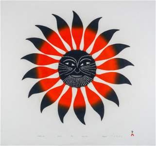 KENOJUAK ASHEVAK, Tattooed Sun, 1994