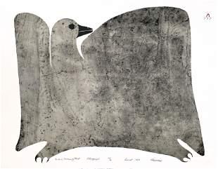 PITALOOSIE SAILA, Inuit, Bird in Morning Mist, 1984 #25