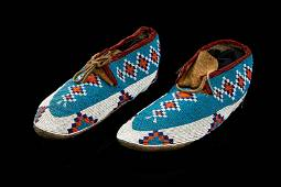 UNIDENTIFIED MAKER, INUIT, Beaded Moccasins, c. 1880