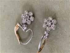 Vintage Platinum Diamond Earrings