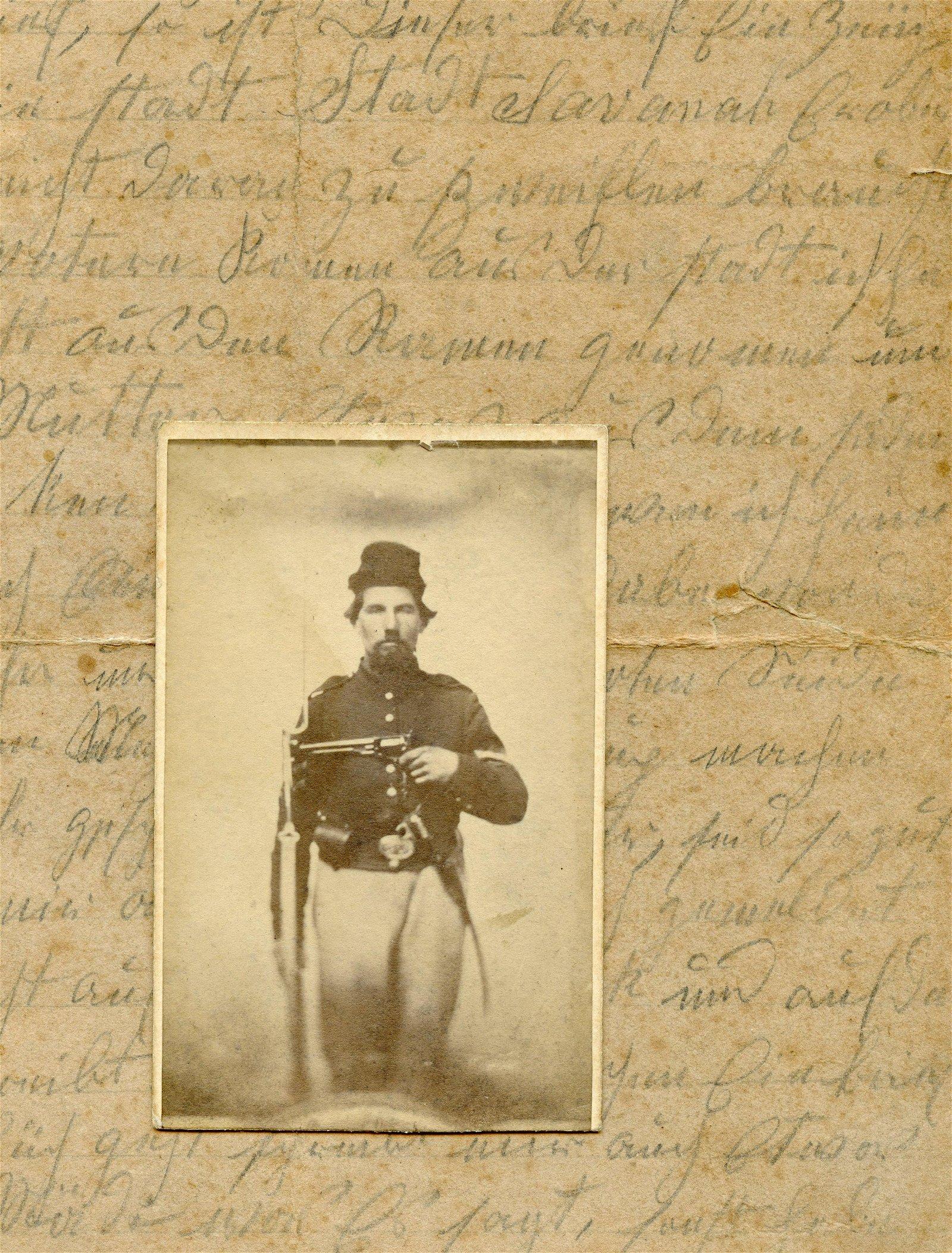 Civil War CDV and Letter, Ohio German-American