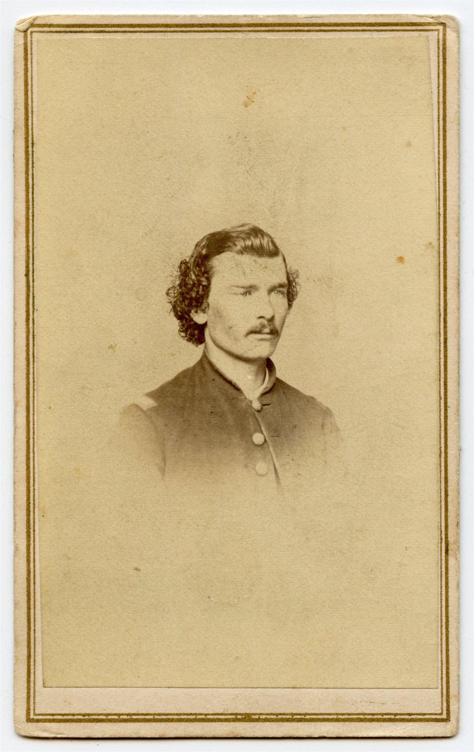 Civil War CDV 45th Illinois Officer- Wounded at Shiloh