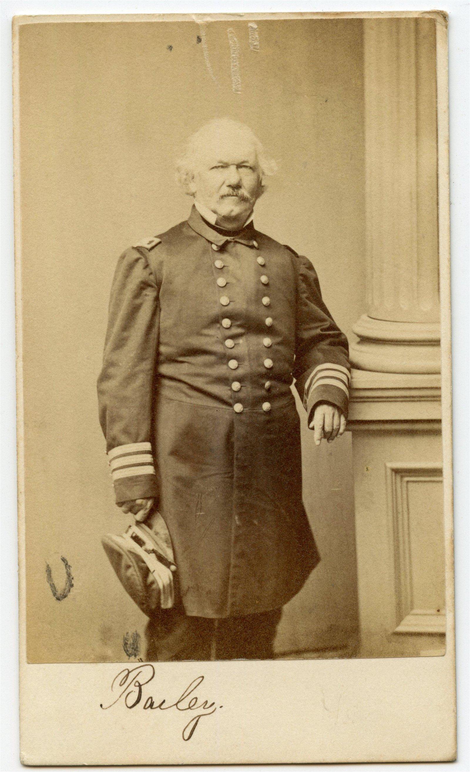 Civil War CDV of Admiral Theodorus Bailey