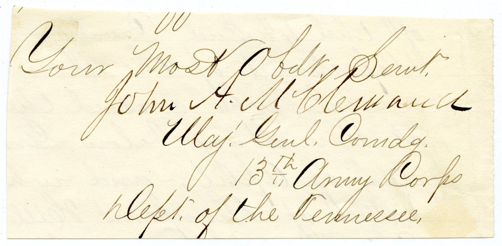 Civil War Signature of General McClernand