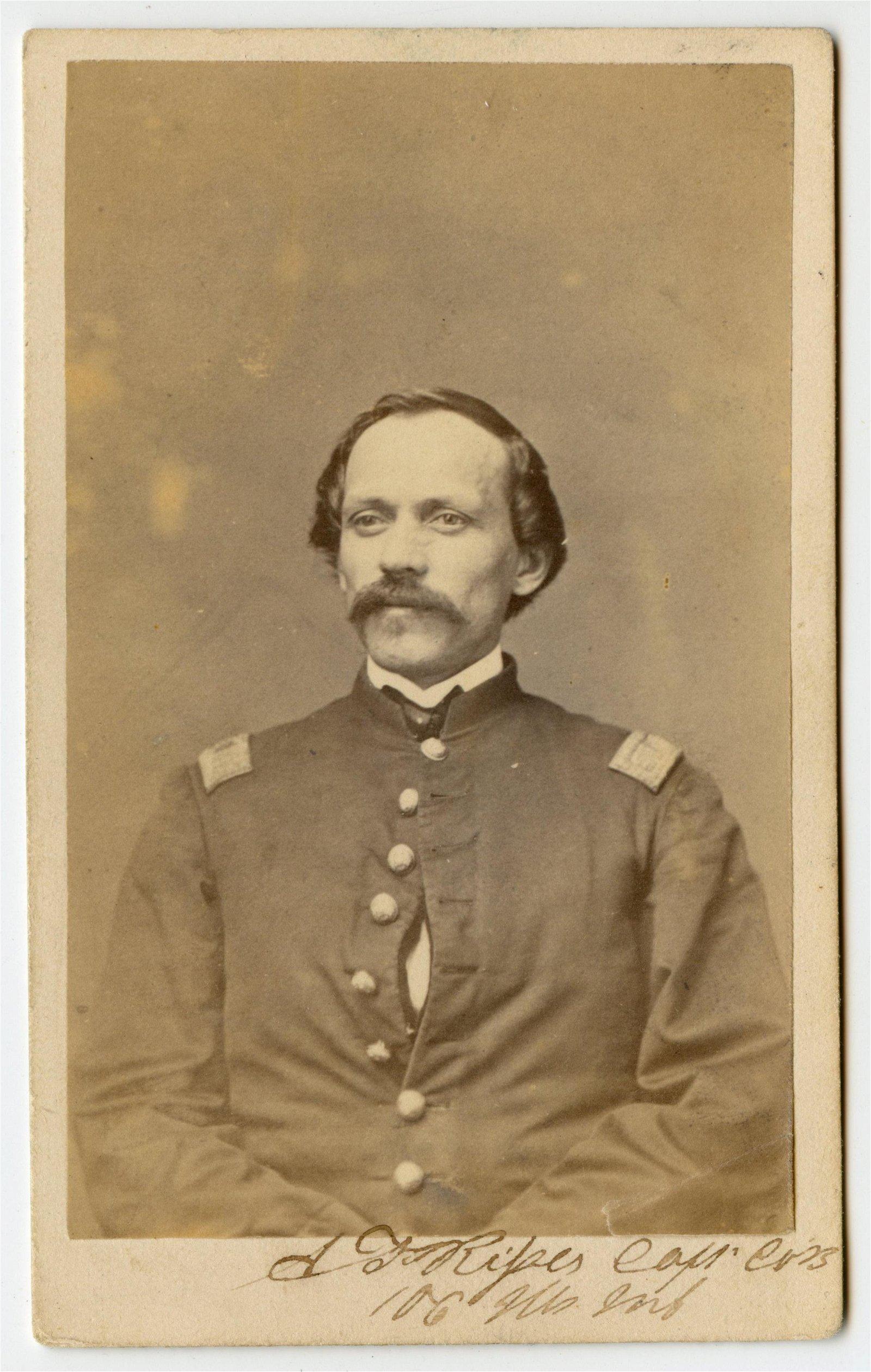 Signed Civil War CDV 106th Illinois CDV