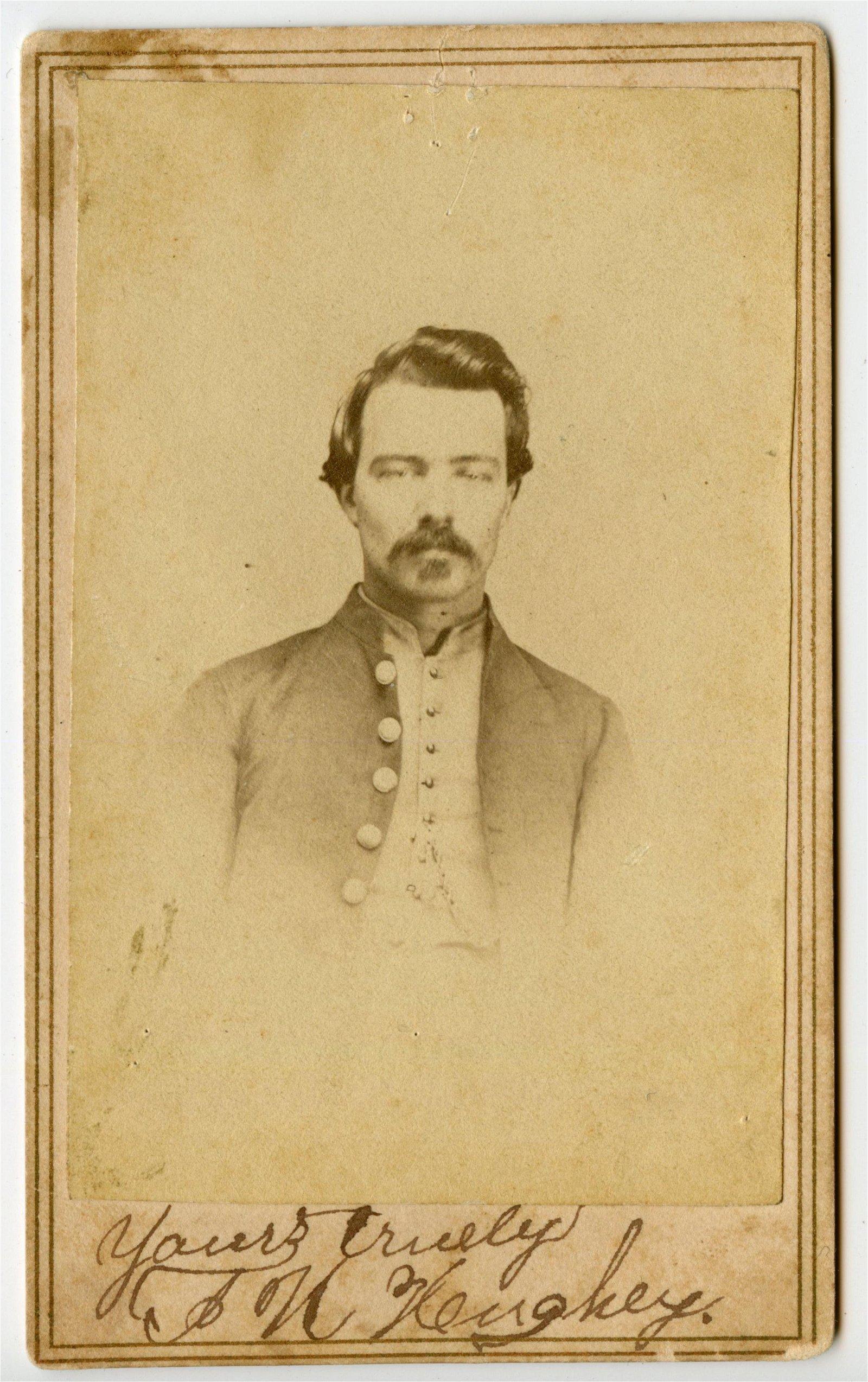 Signed Civil War CDV 48th Illinois