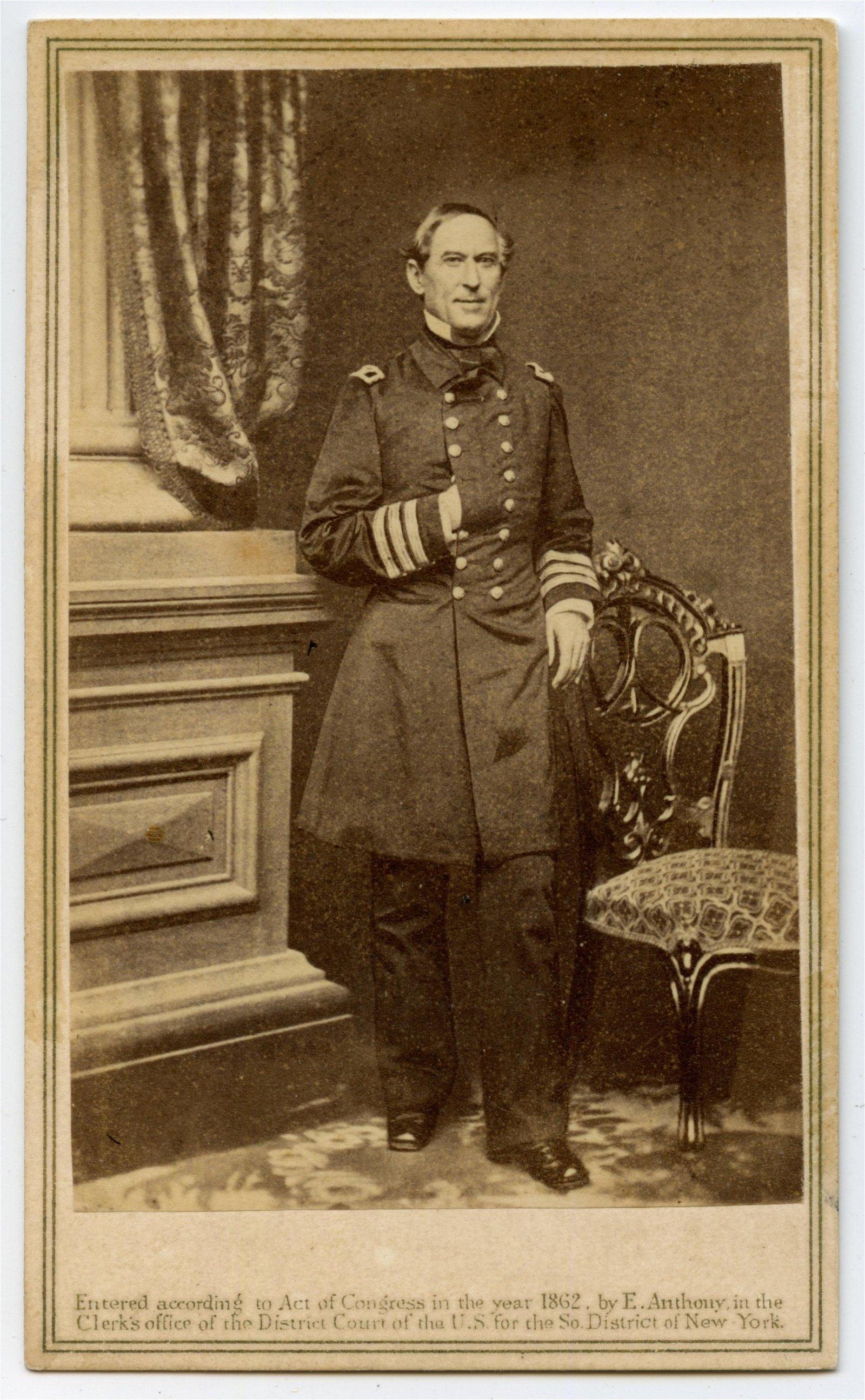 Civil War CDV of Admiral David Farragut