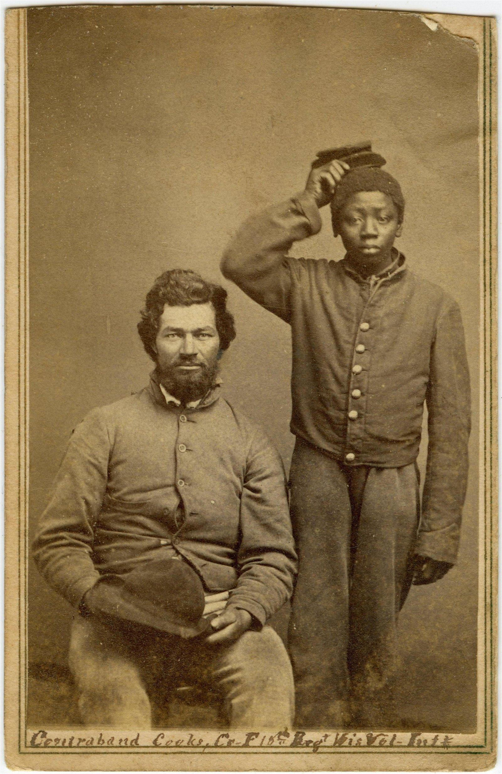 "Civil War CDV of African-American ""Contrabands"""
