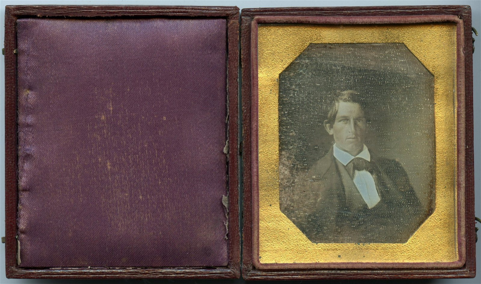 Early Sixth Plate Daguerreotype of a Seated Man