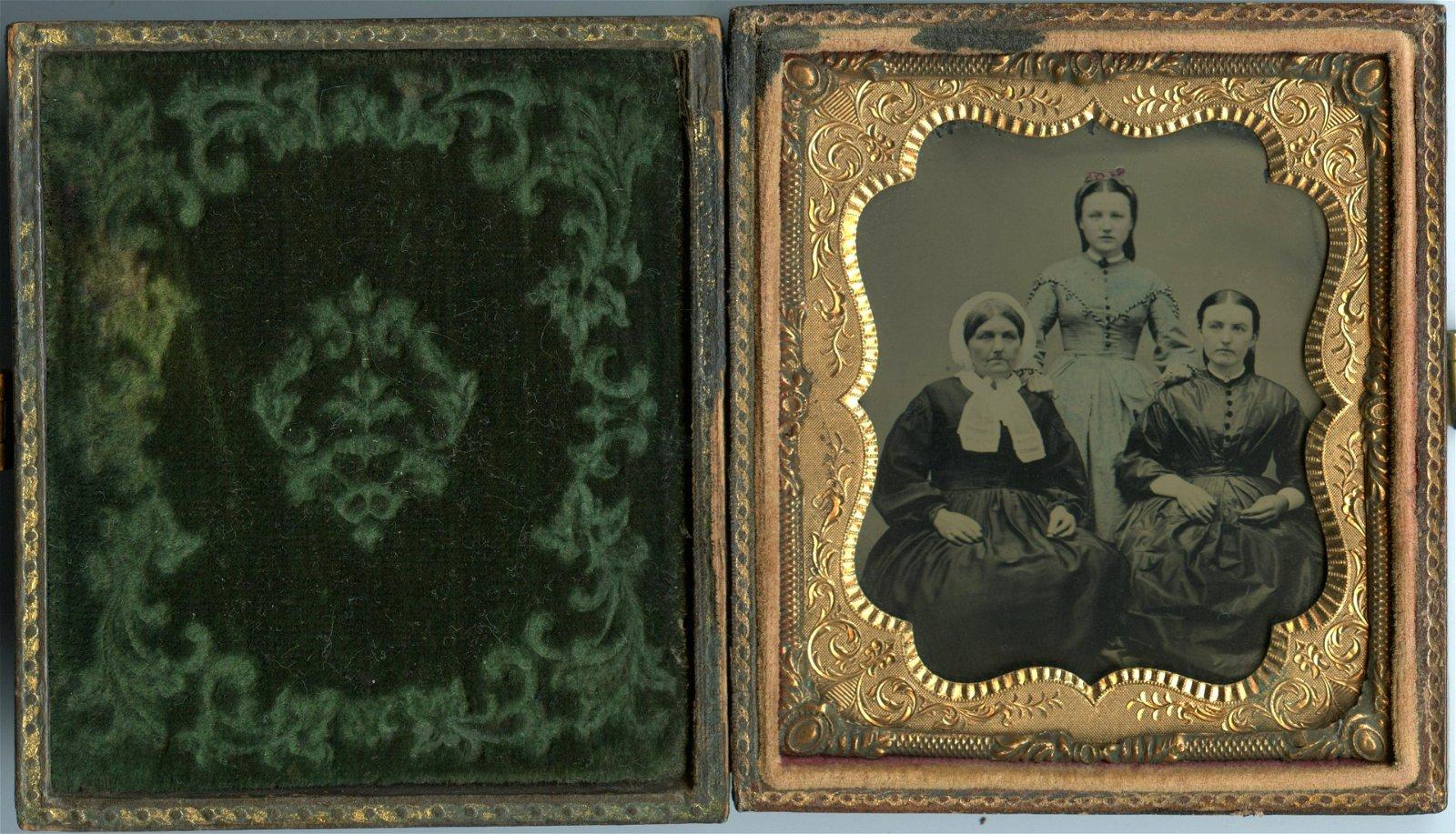 Sixth Plate Tintype of Three Women