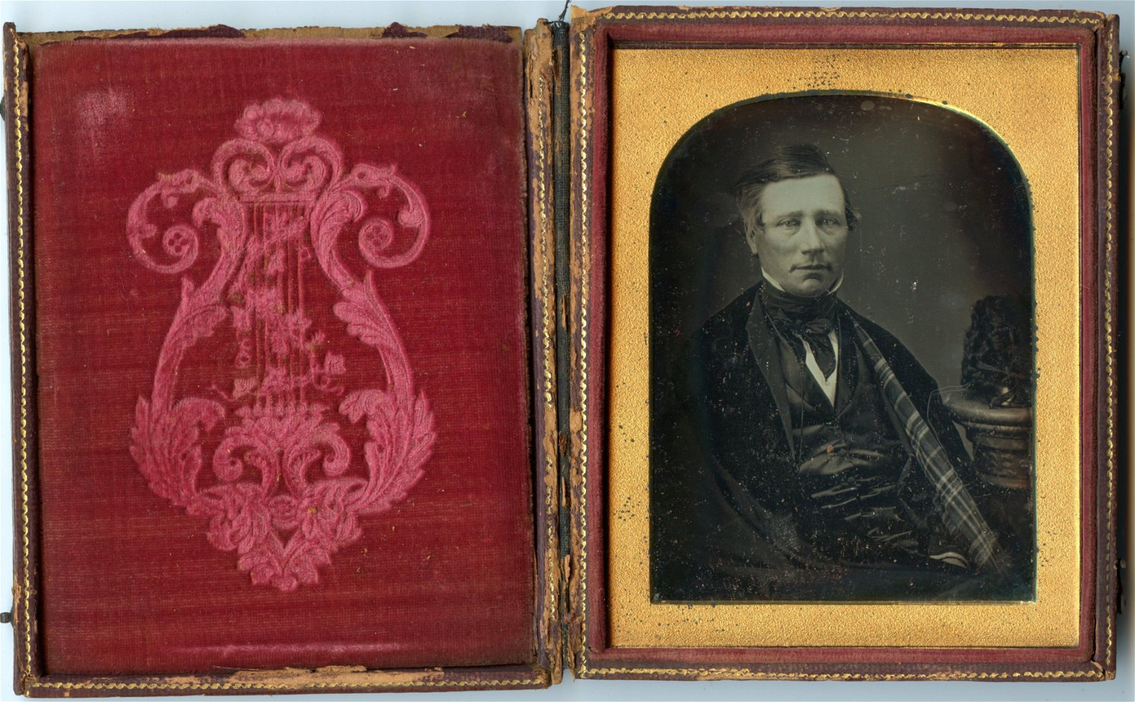 1/4 Plate Daguerreotype of Seated Man