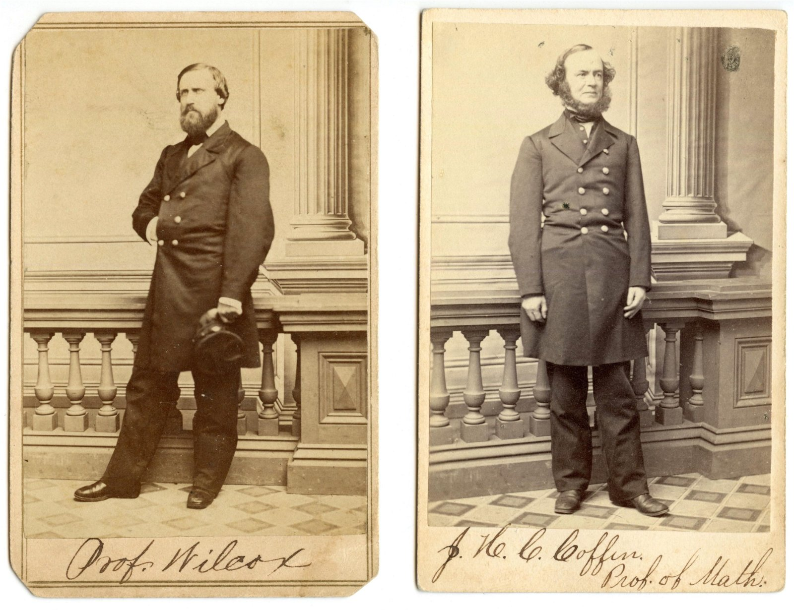 Civil War CDV Naval Academy Professors (2)