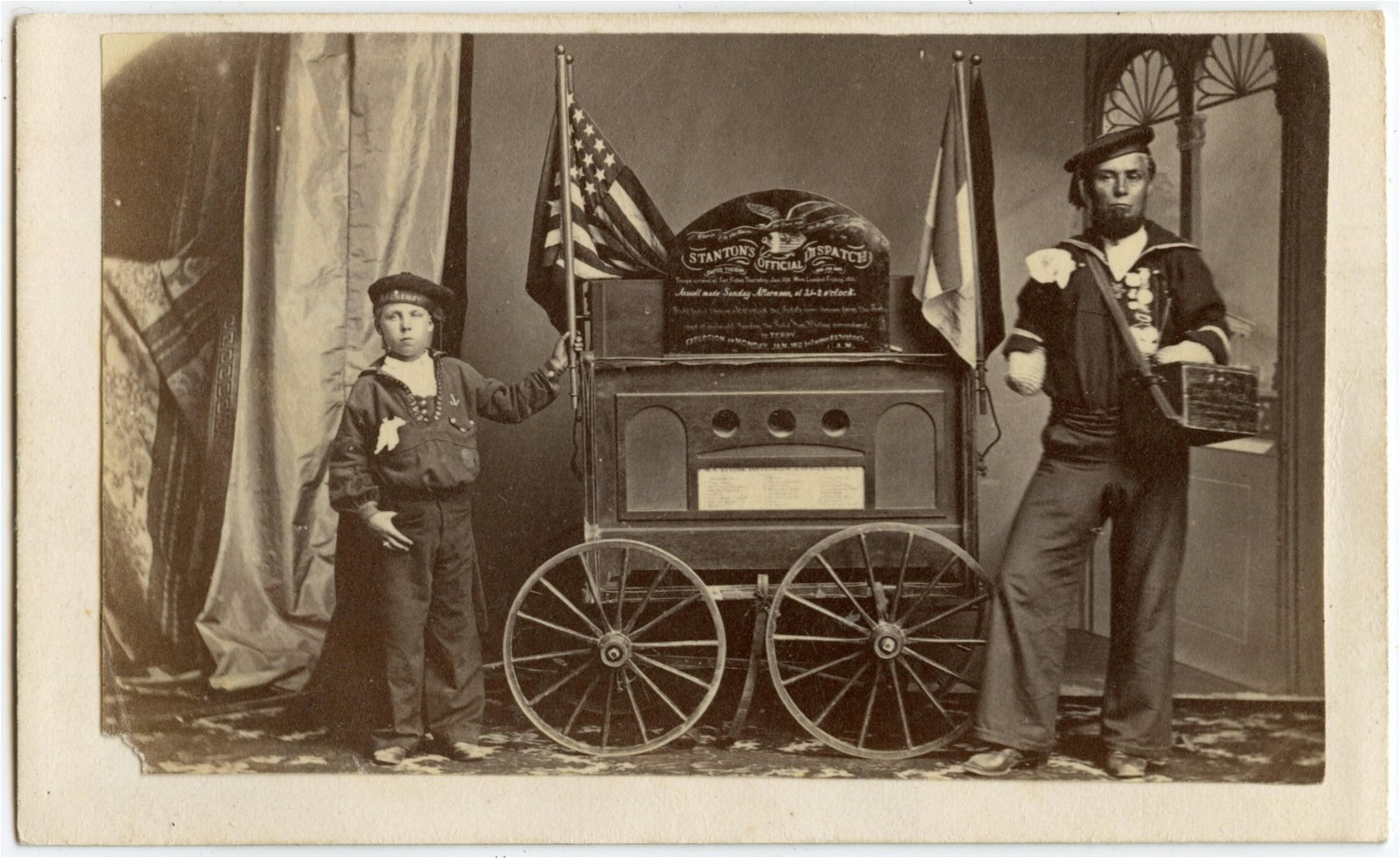 Civil War CDV, Double Amputee- Fort Fisher Dispatch!