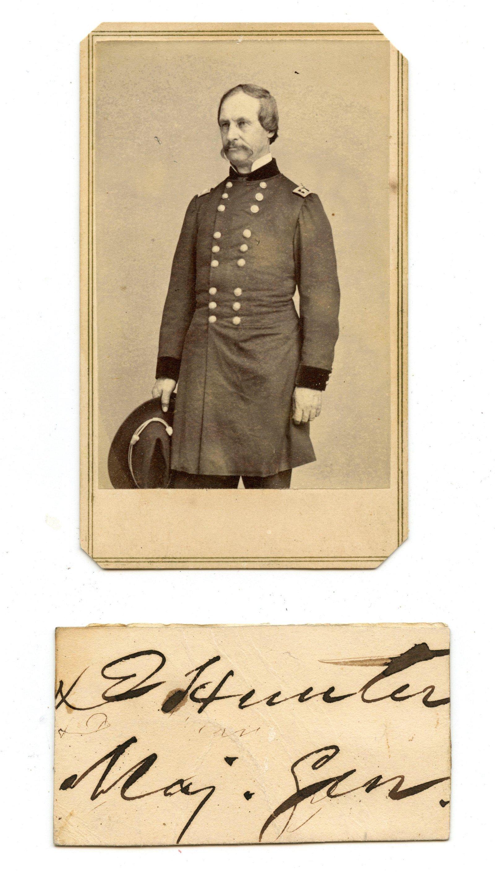Civil War David Hunter CDV + Signature
