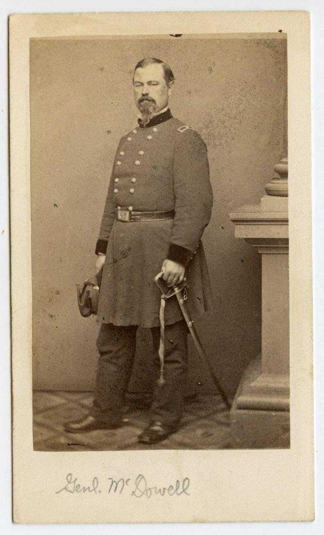 Civil War CDV General McDowell
