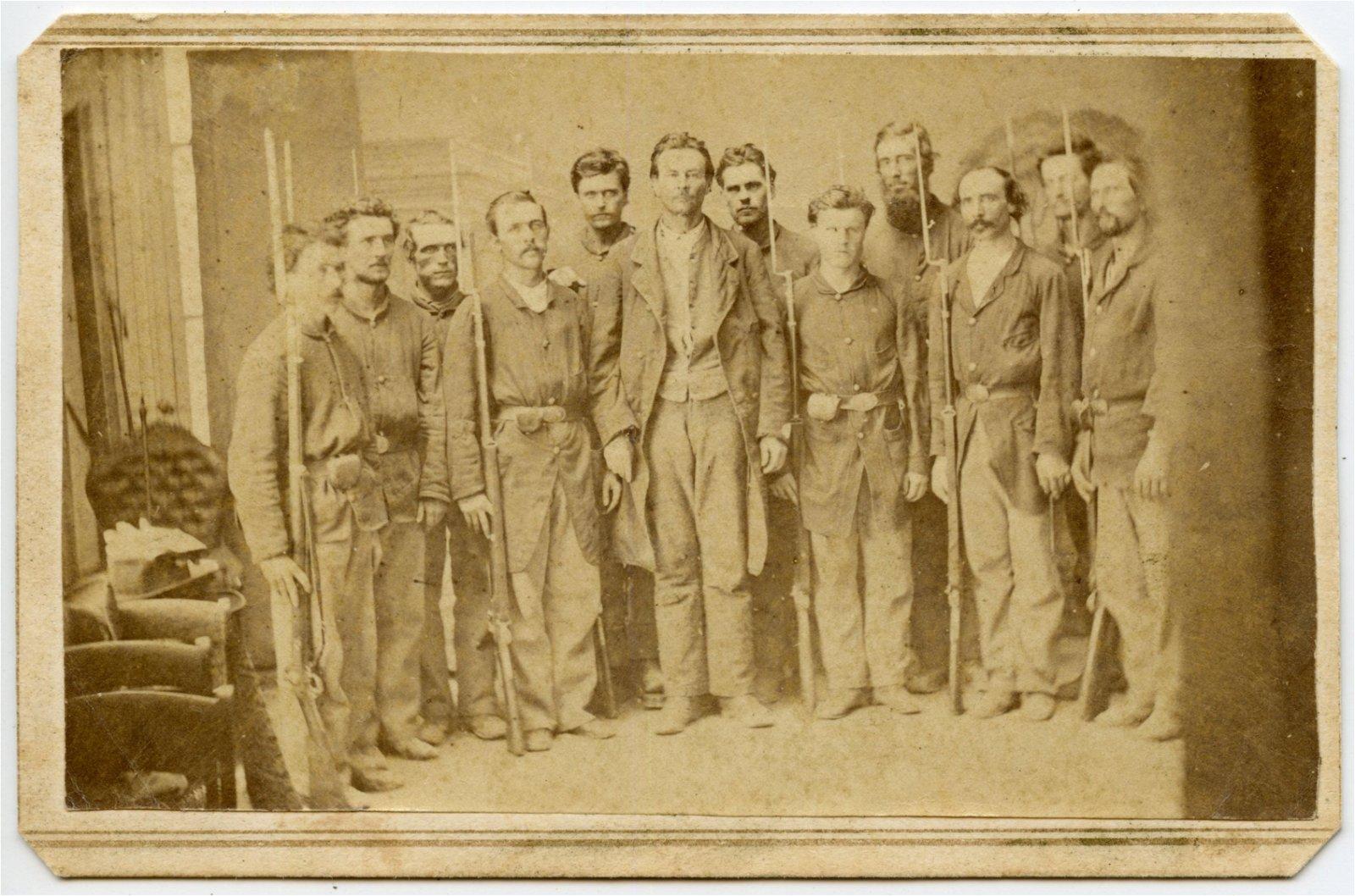 Civil War CDV Champ Ferguson Under Guard
