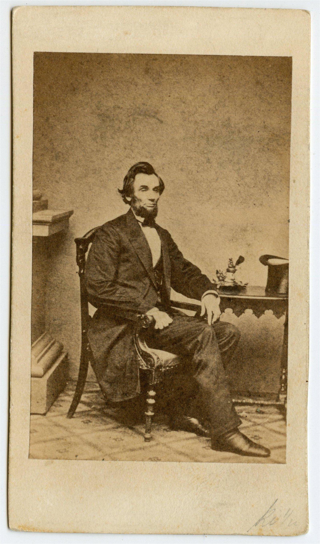 Abraham Lincoln CDV, Inkwell Pose