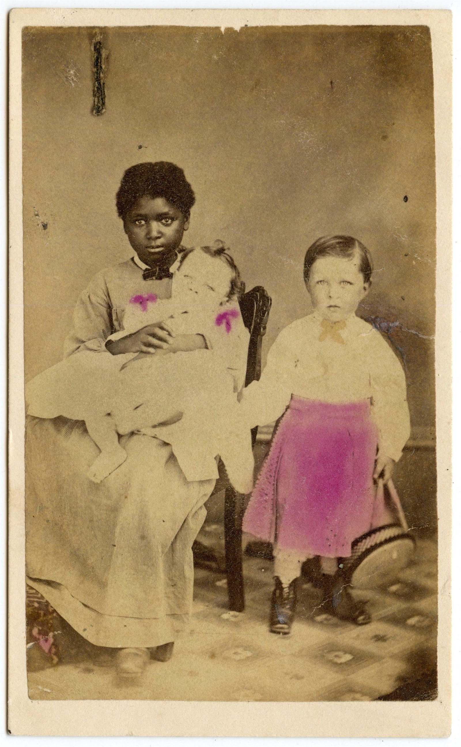 Black Woman Nanny Children CDV