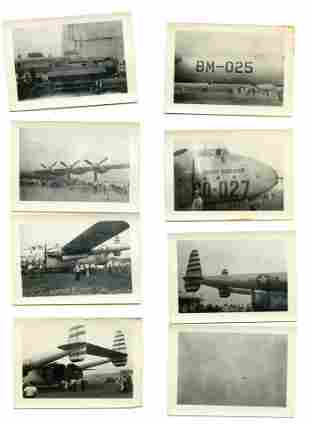 Group of Eight (8) WW2 Aviation Photos