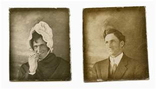 Early Photobooth Photos- Crossdressing Man